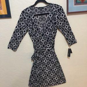Wrap Dress. Figure flattering.